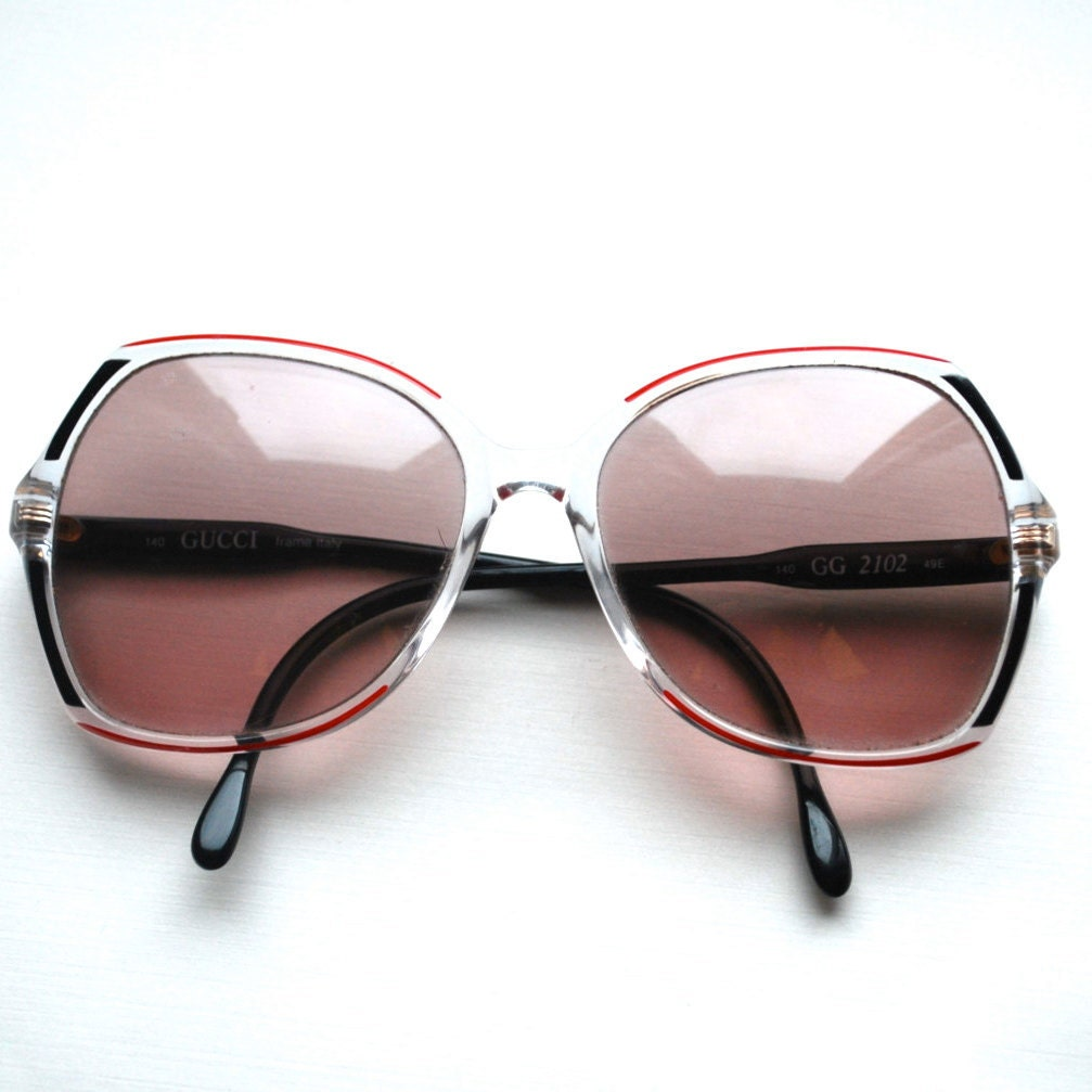 Vintage Gucci Glasses Frames .Your prescription for 1970s