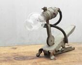 vintage industrial clip on lamp light