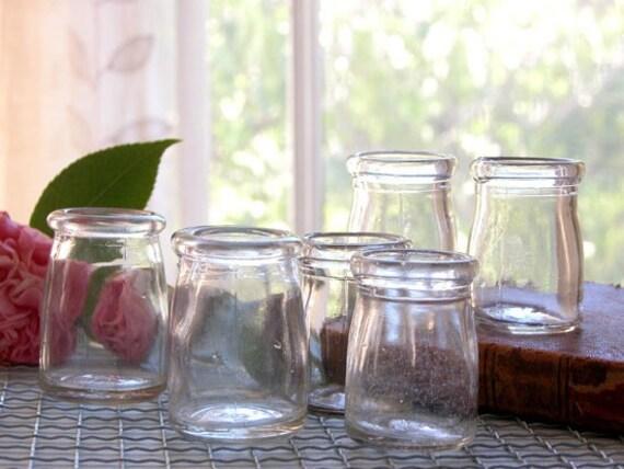 7 Vintage Individual Glass Creamers Restaurant Ware