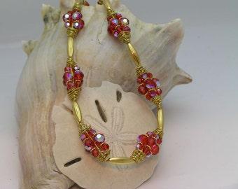 Hyacinth Crystal Beaded Necklace