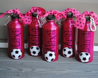 Personalized Soccer 20oz Aluminum Water Bottle (or any sport)