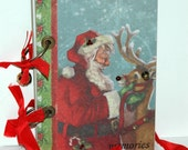 Santa and Rudolph Christmas Journal - December Daily - Scrapbook - Smash Book