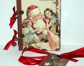 SALE Santa Christmas Journal - December Daily - Scrapbook - Smash Book