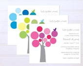 Feather a Nest Baby Boy or Girl Shower Invitations - Mod Tree and Bird Gender Neutral Invites - FREE SHIPPING