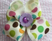 Pastel Dots Bow