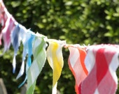 Rainbow Gingham Bunting/Flag Garland