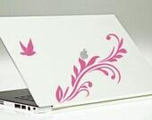 Floral Dove Laptop Decal / Mac Laptop Decal