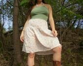 Upcycled Summer Prairie  Halter Dress