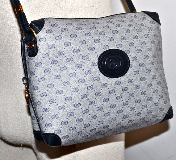 35af01454528 Vintage Gucci Monogram Handbag Blue | Stanford Center for ...