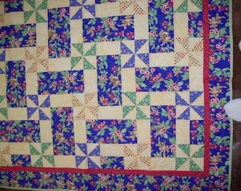 Maypole quilted throw