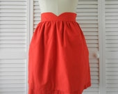 Heart Shaped Waistband Skirt - Red