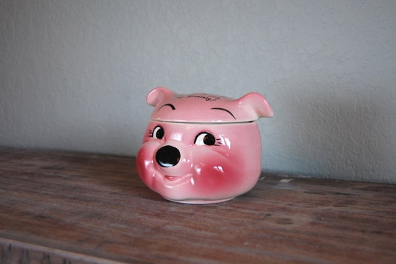 old DeForest of California pig candy jar