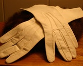 Vintage cream kid gloves