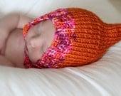 Newborn Orange Gnome Hat