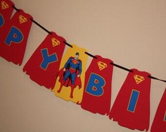 Superman birthday banner