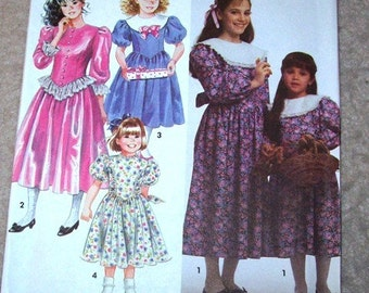 Pattern Sewing Girls Dress size 3 to 6 Simplicity FREE SHIPPING