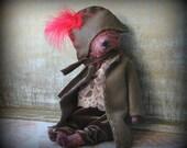 9 inch Artist Handmade Viscose Teddy Bear Napoleon Bonaparte by Sasha Pokrass