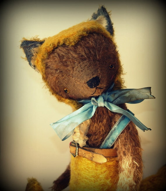 PDF Epattern for 14 inch Artist Mohair Teddy Bear Playing the Fox by Sasha Pokrass