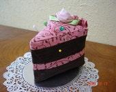 Cute Chocolate Cake Slice Pincushion