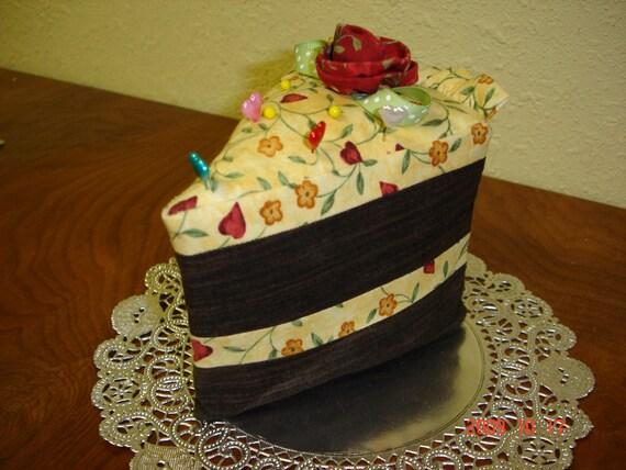 Adorable Slice of Cake Pincushion