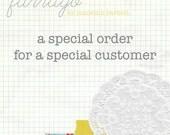 CUSTOM ORDER - for Madewithloveandglue