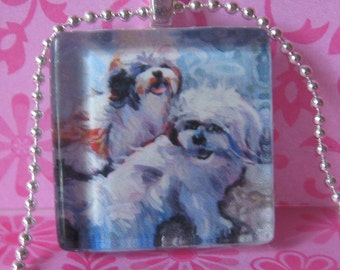 Shih Tzu Dog Pendant (Fluffy Angels) by Gena Semenov - FREE shipping USA
