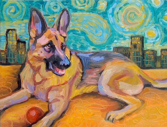 I will paint your cat or dog - 8 x 10 Pet Portrait