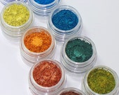 Peacock Plume Eyeshadow Stack 9 Gorgeous Colors of Mineral Makeup