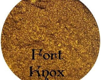Metallic Gold Mineral Eyeshadow Pigment FORT KNOX