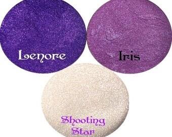 Purple Eyeshadow  Stack  Lenore, Iris, Shooting Star