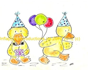 Duck, Duck.....Going to See......  5 x 7 Greeting Card with Envelope