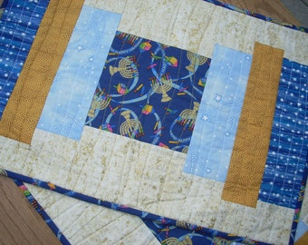 More Gold and Blue for Hanukkah placemats - FREE SHIPPING