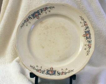 Three Vintage Plates -  Salem China Plate, Semi-Vitreous, 1934 - W.H.Grindley, 1914-1925 - Henry Alcock Semi-Porcelain Minwood late 1800s...