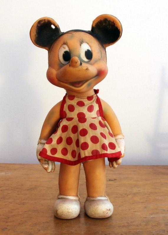 Sale Sun Rubber Company Rubber Minnie Mouse Doll Vintage