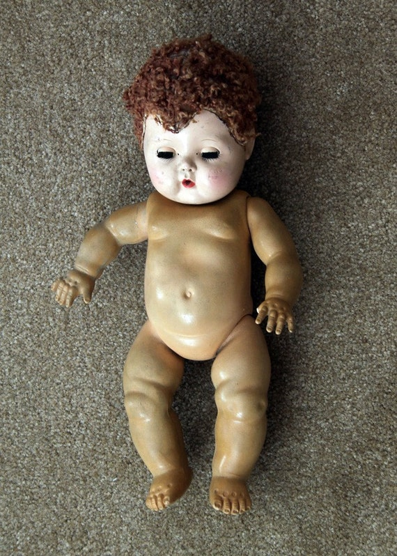 REDUCED PRICE - Tiny Tears Doll - vintage, 1950s by American Character