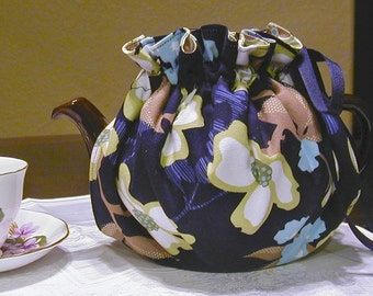 Dogwood Floral Reversible Teapot Cozy (Cosy)