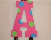Custom Hand painted Personalized  Inital Hairbow Holder