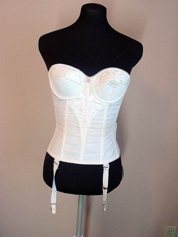 Vintage Bullet Bra Corset With Garters By By Vintagerunway