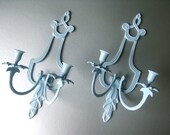 Vintage Iron Candle Sconces French Inspired