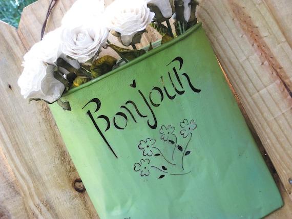 Parisian Chic Bonjour Wall Pocket