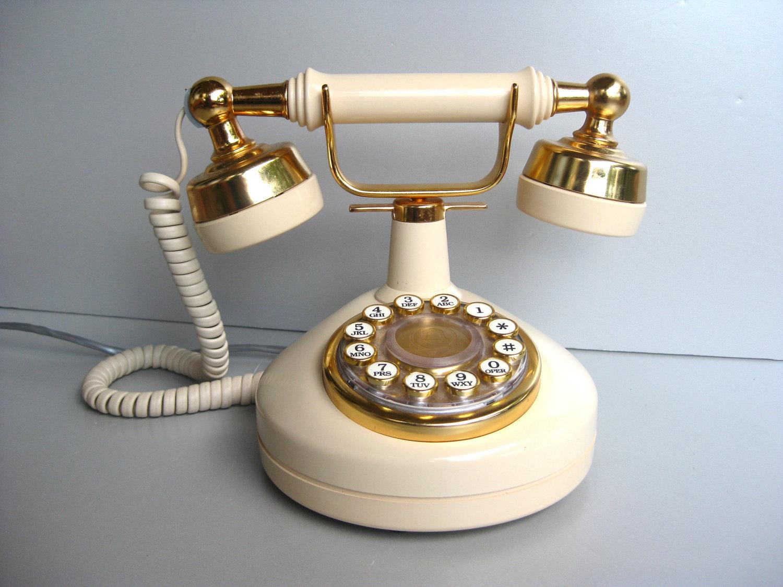 Fleur De Lis Home Decor Vintage Telephone French Phone Paris Apartment Chic Creamy