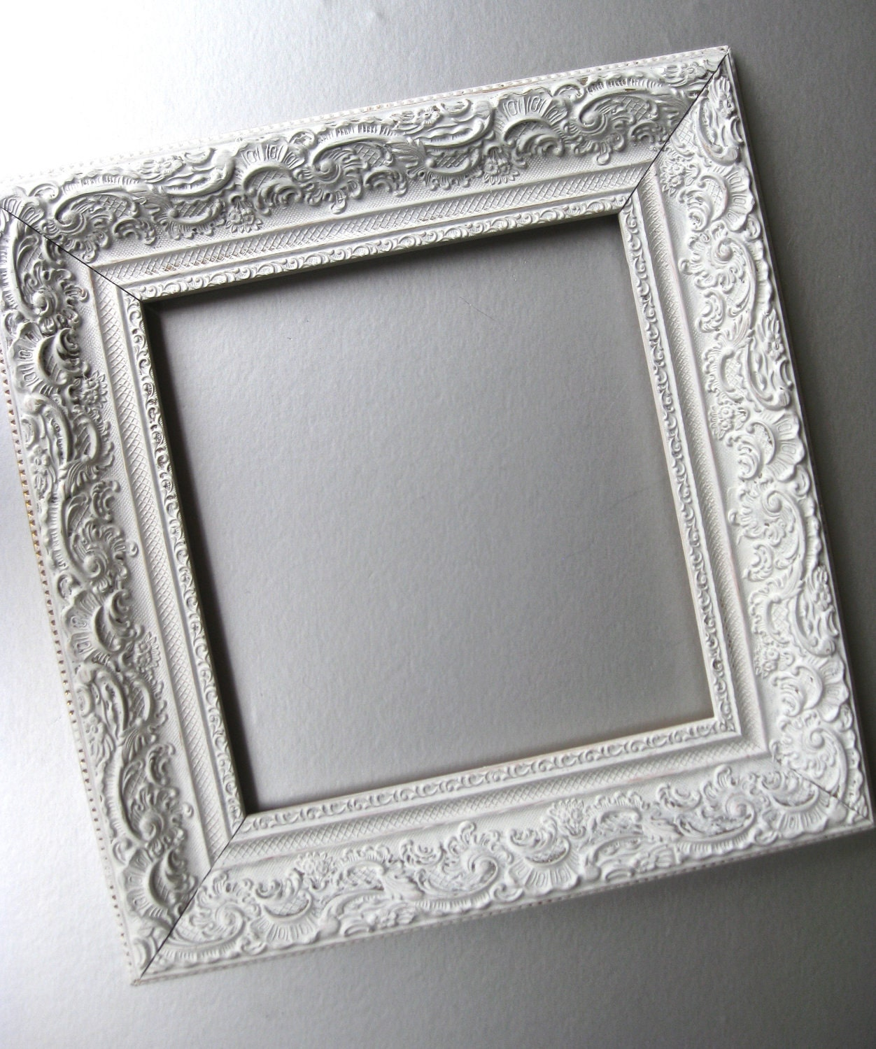 Shabby and chic frame cottage frame white frame vintage - Antique white picture frames ...