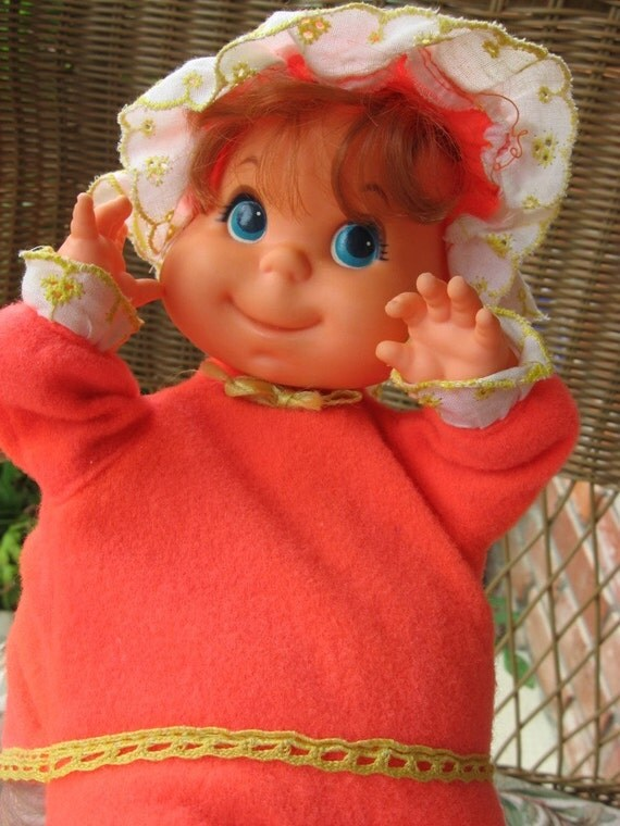 Rare Mattel Baby Beans Puppet Doll Puffen 1973