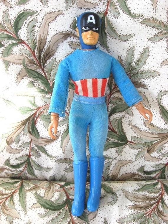 Captain America 1974 Mego Action Figure By Mychildhooddolls