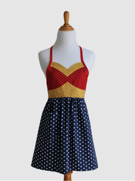 Reserved for adunlevy - Wonder Hero Woman's Full Apron - Super Hero Apron