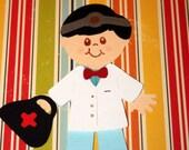 Doctor paper doll die cut