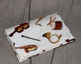 Music Fabric Card Case/Mini Wallet/Music Instruments