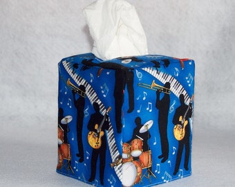 Music Fabric Tissue Box Cover