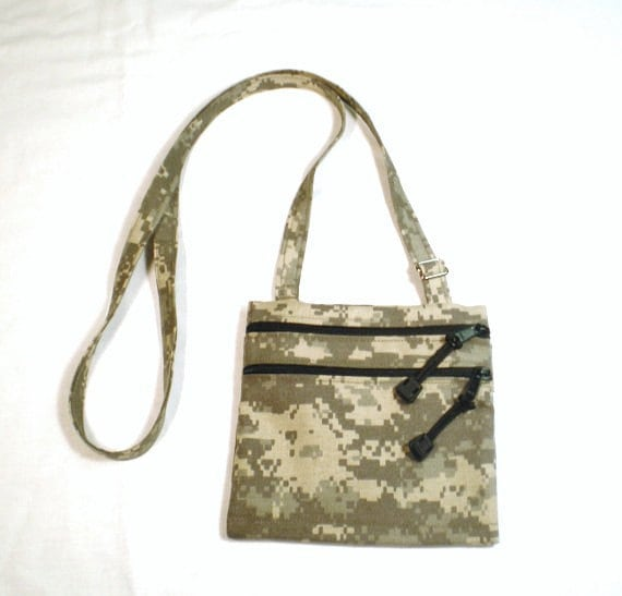 ACU Camouflage across the chest messenger type bag, Camo purse