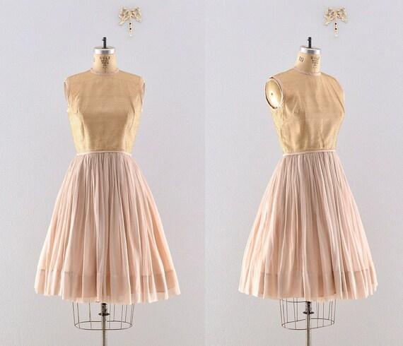 party 50s dress / jonathan logan / 1950s chiffon dress